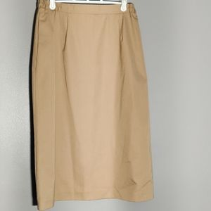 Vintage Khaki Pencil Skirt